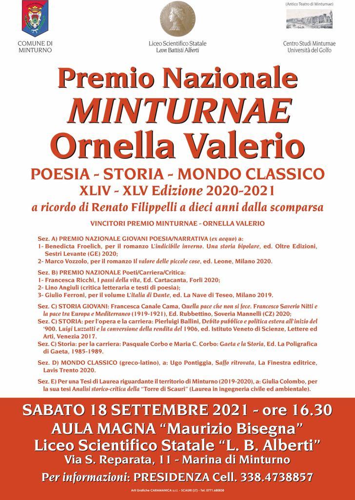 Locandina Premio Minturnae